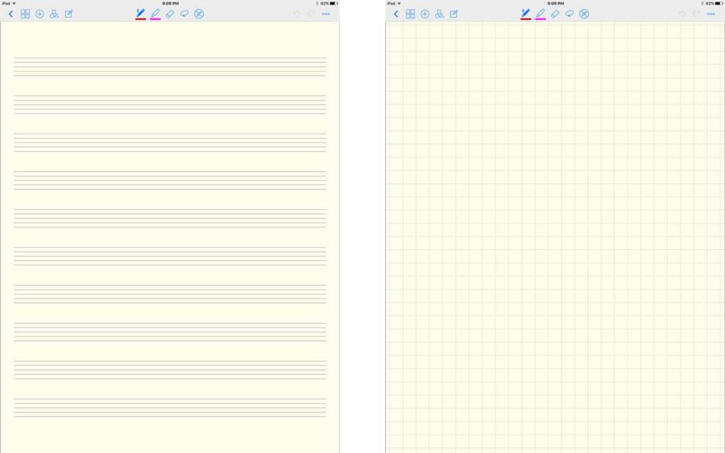 Here are two of my most-used default GoodNotes templates.